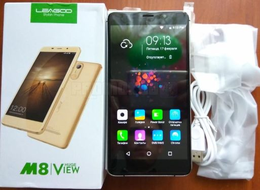 Leagoo M8 5.7 MT6580A 3500mAh 16GB характеристики